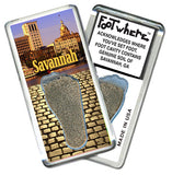 Savannah, GA FootWhere® Souvenir Magnet. Made in USA - FootWhere® Souvenirs