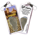 Savannah FootWhere® Souvenir Zipper-Pull. Made in USA - FootWhere® Souvenirs