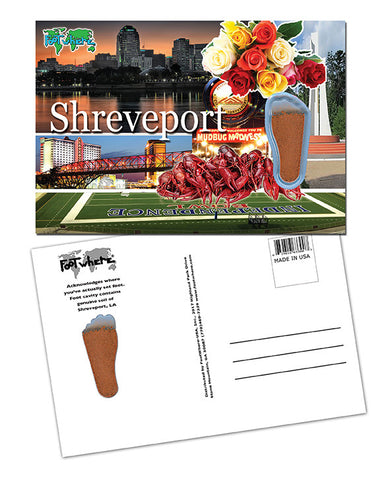 Shreveport FootWhere® Souvenir Postcard