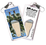 St. Augustine FootWhere® Souvenir Zipper-Pull. Made in USA