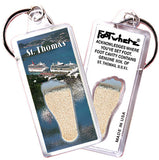 St. Thomas, V.I. FootWhere® Souvenir Key Chain. Made in USA - FootWhere® Souvenirs