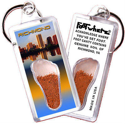 Richmond FootWhere® Souvenir Keychain. Made in USA