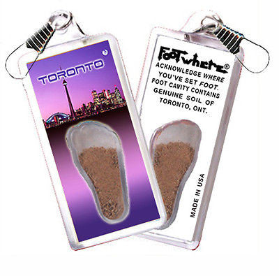 Toronto FootWhere® Souvenir Zipper-Pull. Made in USA