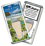 Turks & Caicos FootWhere® Souvenir Magnet. Made in USA - FootWhere® Souvenirs