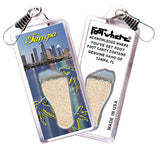 Tampa FootWhere® Souvenir Zipper-Pull. Made in USA - FootWhere® Souvenirs