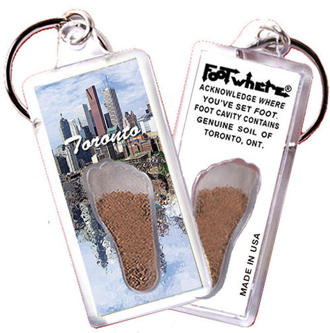 Toronto FootWhere® Souvenir Keychain. Made in USA - FootWhere® Souvenirs