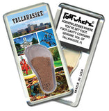Tallahasse, FL FootWhere® Souvenir Magnet. Made in USA