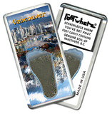 Vancouver, B.C. FootWhere® Souvenir Fridge Magnet. Made in USA - FootWhere® Souvenirs