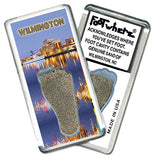 Wilmington, NC FootWhere® Souvenir Fridge Magnet. Made in USA