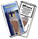 Wichita, KS FootWhere® Souvenir Fridge Magnet. Made in USA - FootWhere® Souvenirs