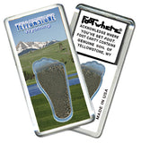 Yellowstone, WY FootWhere® Souvenir Magnet. Made in USA - FootWhere® Souvenirs