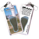 Yellowstone, WY  FootWhere® Souvenir Zipper-Pull. Made in USA - FootWhere® Souvenirs