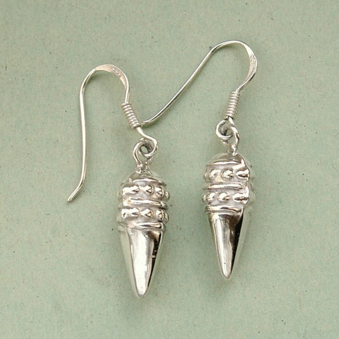 Sweet little silver acorn drop earrings
