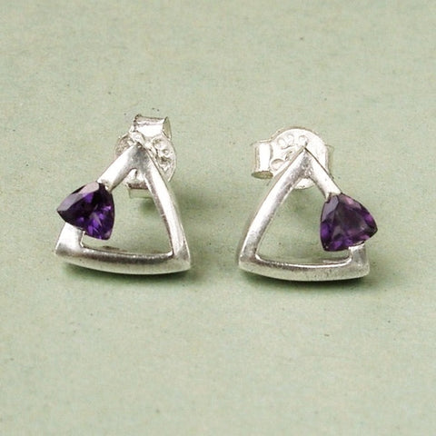 Sterling silver stud earrings by Carrick Jewellery Ltd, Scotland