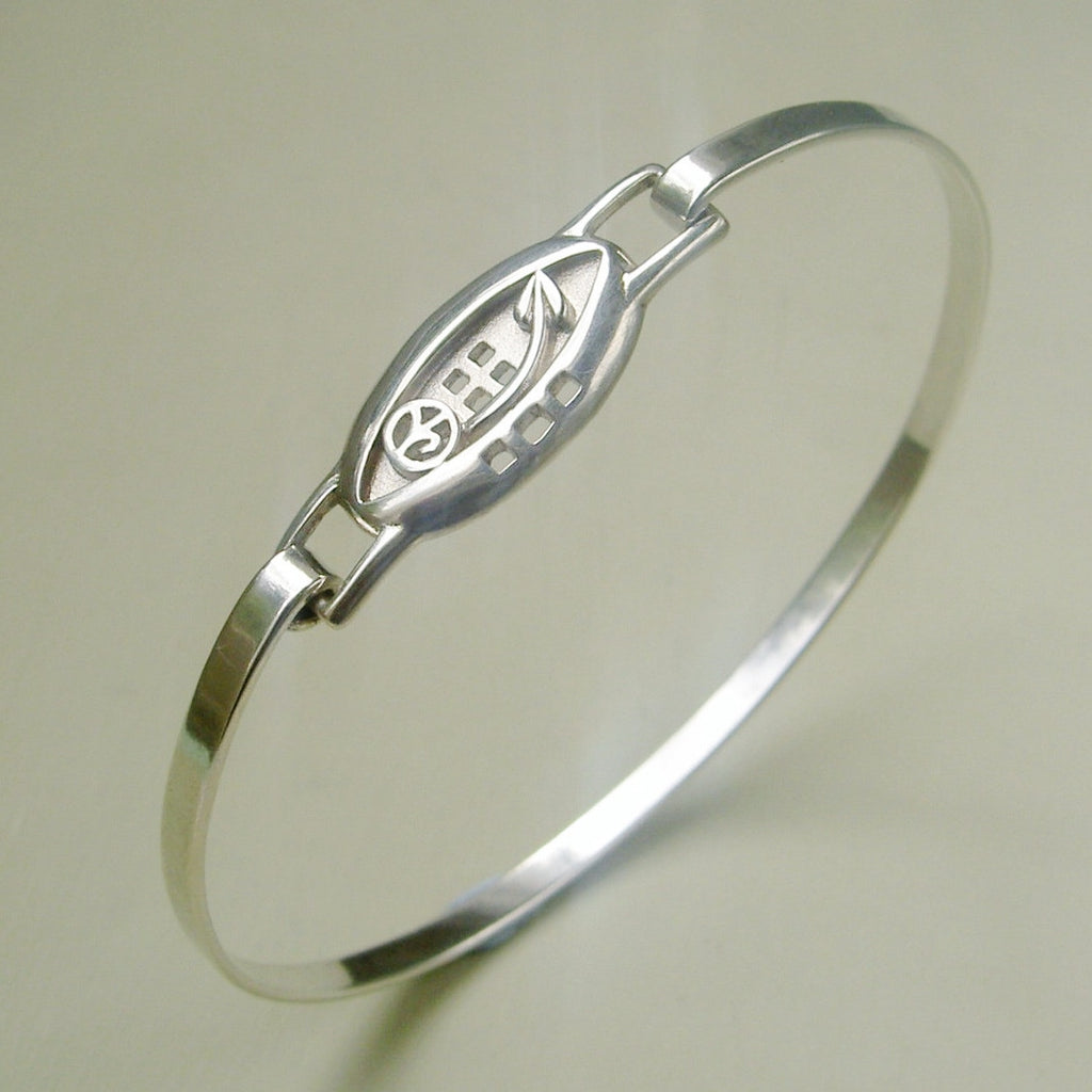 Sterling silver Rennie Mackintosh style bangle