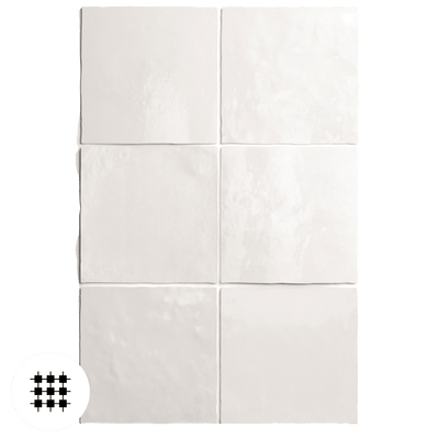 WHITE GLOSS ARTEMIS WALL TILE 132X132X10MM