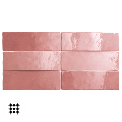 ROSE GLOSS ARTEMIS WALL TILE 200X65X10MM