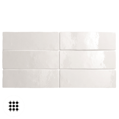 WHITE GLOSS ARTEMIS WALL TILE 200X65X10MM