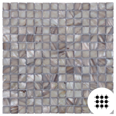 MOTHER OF PEARL MOSAIC SILVER SQUARE MOSAIC