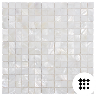 MOTHER OF PEARL MOSAIC BIANCA SQUARE