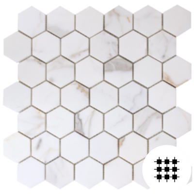 CALACATTA GOLD HONED HEXAGON 70MM