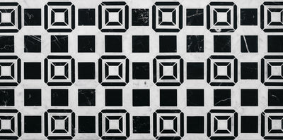 LABYRINTH CHANNEL CARRARA AND NERO MARBLE by Steve Cordony