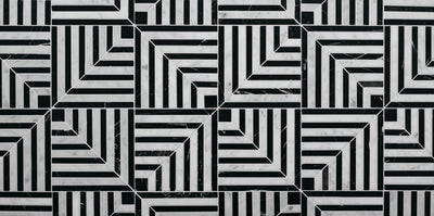 LABYRINTH GRAVITY CARRARA AND NERO MARBLE by Steve Cordony
