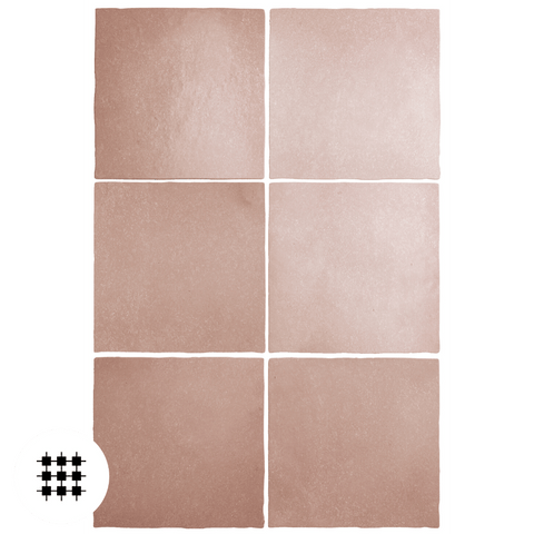 MARGOT CORAL PINK MATT 132X132X10MM