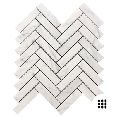 CARRARA C HONED HERRINGBONE