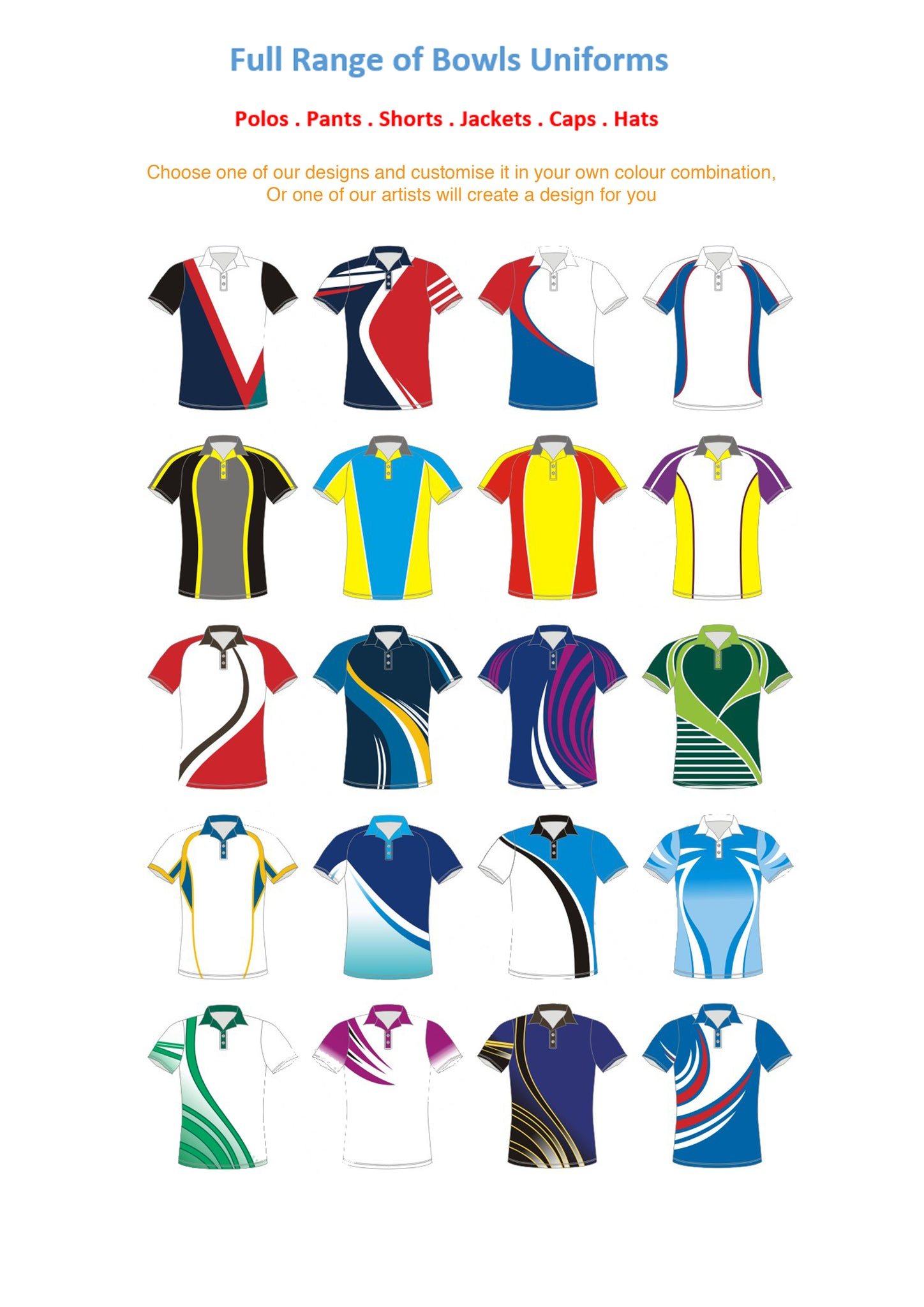 Kiwi Crew custom bowl polo shirts