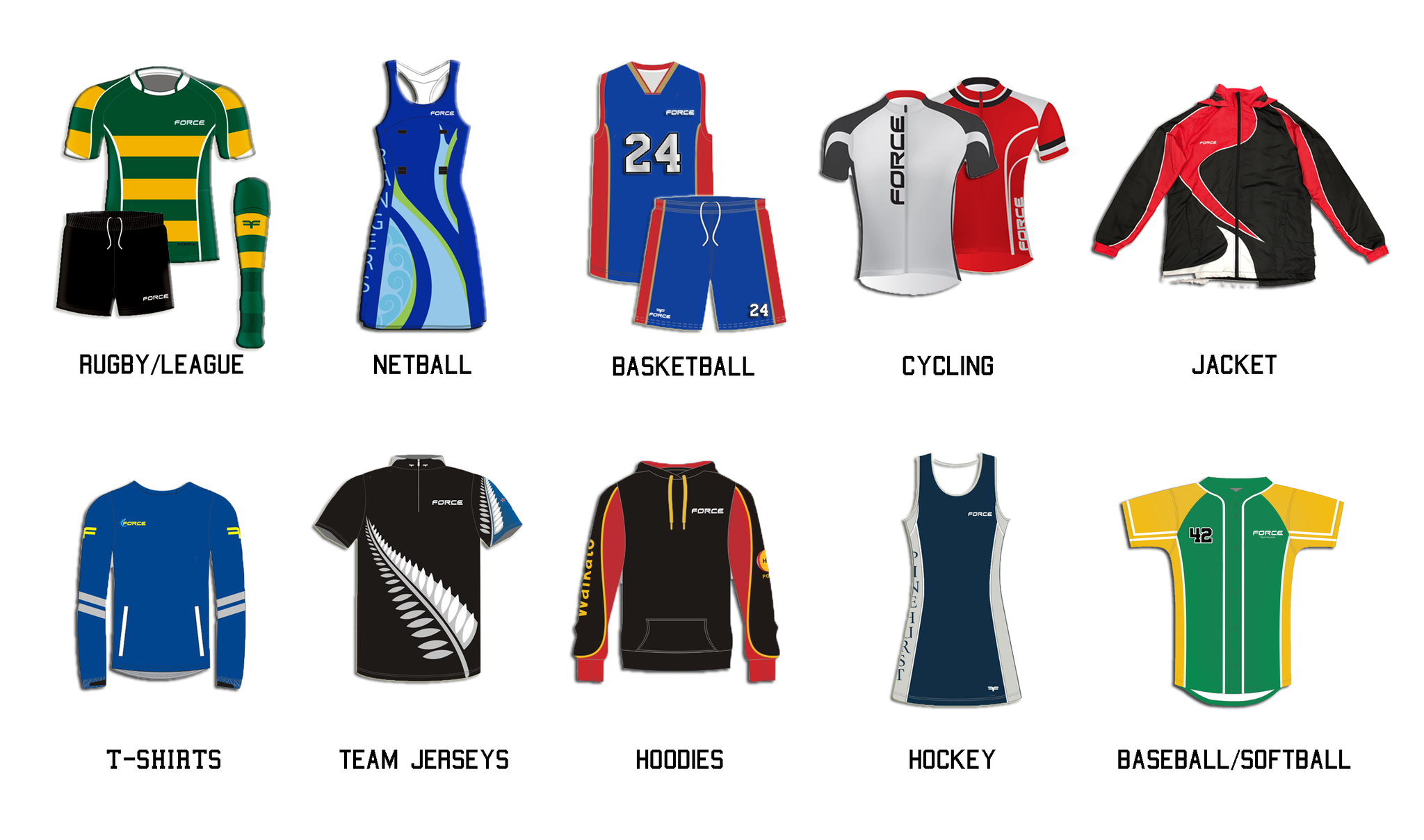 Kiwi crew Force Custom sportswear