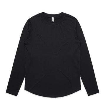 WO'S CURVE L/S TEE - 4055
