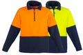 UNISEX HI VIS HALF ZIP FLEECE JUMPER   ZT460