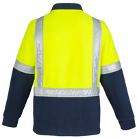 MENS HI VIS FLEECE JUMPER - SHOULDER TAPED   ZT462