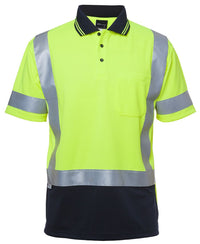 HI VIS S/S D+N H PATTERN TRAD POLO  6DHS