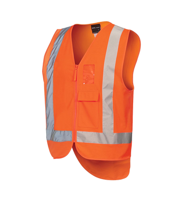 HI VIS ZIP DROP TAIL H PATTERN (D+N) VEST  6DNDT