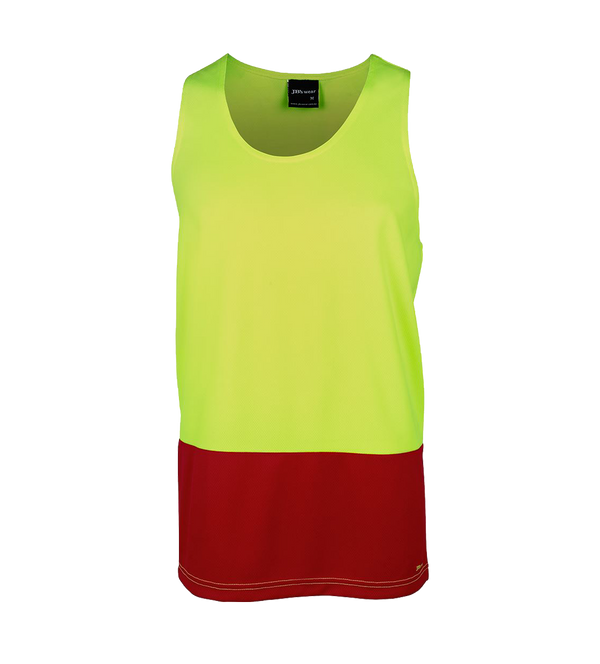 HI VIS TRADITIONAL SINGLET   6HTS