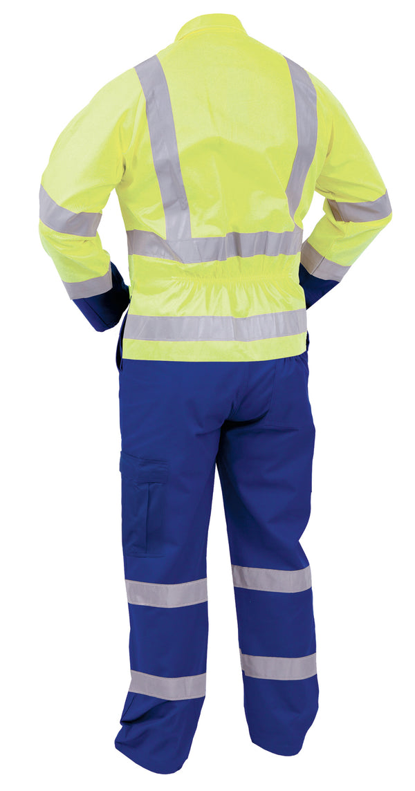 HI VIS DAY/NIGHT VISLON ZIP OVERALLS  TTPPCLT RFY