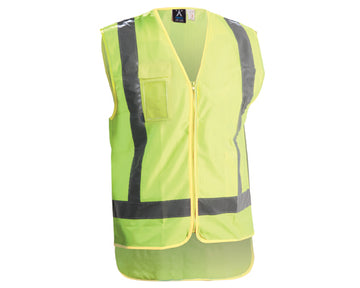 HI VIS DAY/NIGHT POLYESTER VEST ZIPPED  V5M