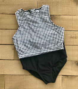 emma gingham swim top
