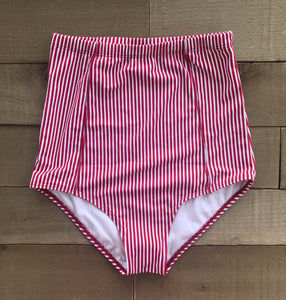 striped high waisted bottoms