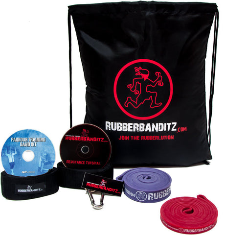 Red Parkour Band Training Kit (For Athletes <180 lbs)