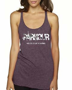 Women's Never Stop Playing Racerback Tank