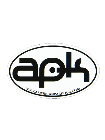American Parkour APK Oval Sticker