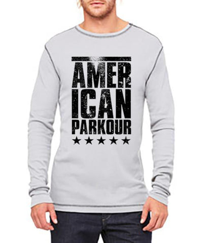 American Parkour Stacked Thermal (Grey/Black)