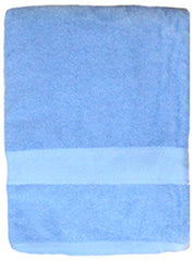 3 Terry Bath Towels 100% Cotton 36 x 68 Inch Light Blue #104800LB