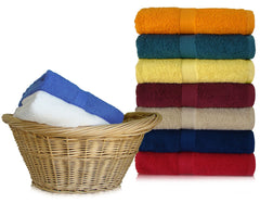 24 Bath Towels 24 x 48 Inch Combed Cotton