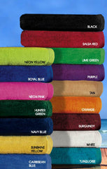 24 Terry Velour Beach Towels 30 x 60 Inches #CFBT30x60VC