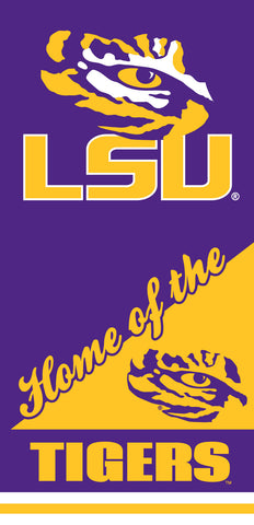 12 LSU Tigers Home Velour Beach Towels 28 x 58 Inch #00046H