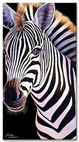 24 Zebra Velour Beach Towels 30 x 60 Inch #BT6663